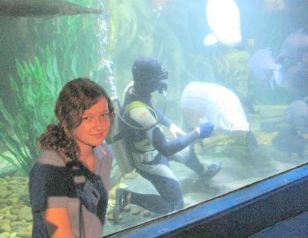 Luca spent her work experience week at Underwater World, Pattaya.