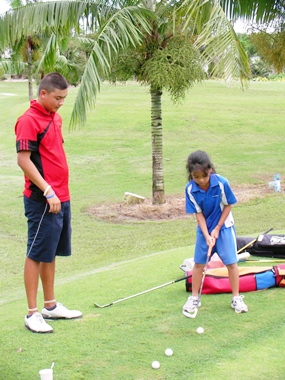 Jason worked with golf pros John and Jeff at the St. Andrews Golf Centre, Green Valley.