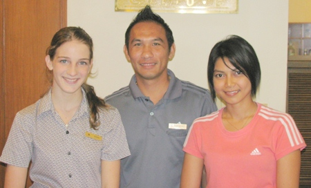 Sanne worked at the Pattaya Marriott Resort and Spa Fitness Club.