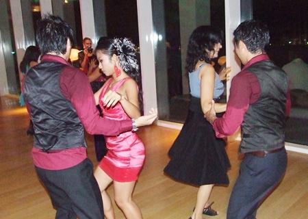 Hot dances to a hot rhythm.