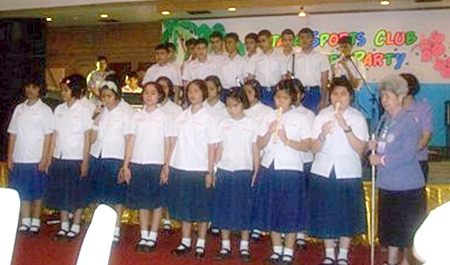 The Redemptorist School for the Blind choir holds the PSC members spellbound with their singing talents.