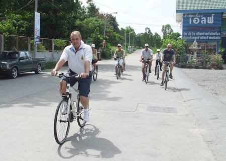 Thai Garden GM Rene Pisters takes guests out for a morning ride.