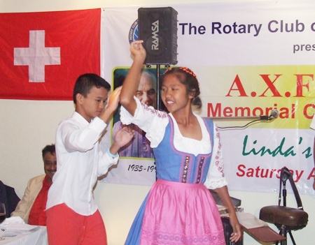 The kids were superb in their rendition of the Swiss dance.