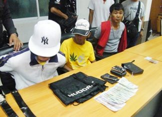 Opportunistic Pradu Konklong (right), caught with the stolen goods and a packet of marijuana, will receive the bulk of the charges.