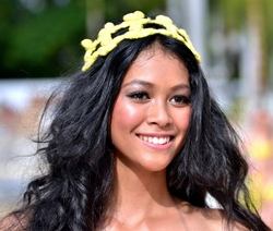 Bunga Jelitha of Indonesia was the overall winner of the Supermodel of Asia-Pacific contest.