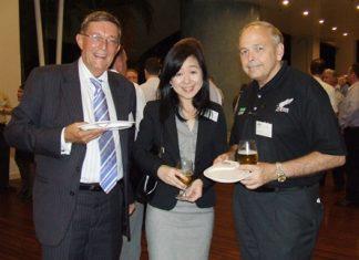 Photo of the week: Richard Rome (KPMG Phoomchai Audi Ltd.) and Amornsri Mingkhwanrungrueng (Assistant Manager KPMG Phoomchai Audi Ltd.) with Paul Stinson (Executive Advisor Amata Corporation PCL).