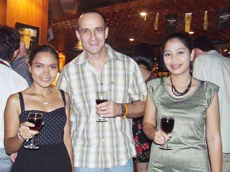 Parita Dhajuken, sales executive at Wong Amat Tower; Oleg Shovkovyy, sales executive at Heights Holdings; and Norathai Phodet.