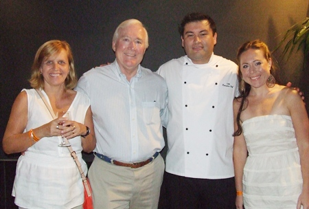 Heather Naro, Elementary Principal International School Eastern Seaboard; Luis Rodrigo Zamora, executive chef Pattaya Marriott Resort & Spa; Dr. Robert W. Brewitt, Superintendent International School Eastern Seaboard; Anne K. Brewit.