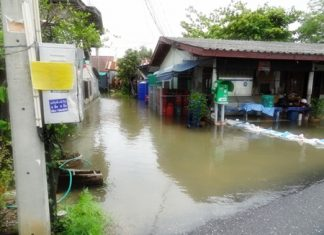 Chonburi's provincial government has brought in pumps and boats to help low lying areas during heavy rainfall.
