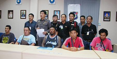Police have finally arrested 5 members of the Pattaya Beach jet ski racketeers - Chaturong Singhakam, Somporn Thongpaiwan, Sriphaiporn Montho, Aukrin Tongpiwin, and Aroon Choomkaew.  It will be interesting to see if anything comes of it.