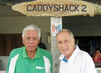 Wednesday winner Sus Ige (left) with runner-up Dale Murphy.