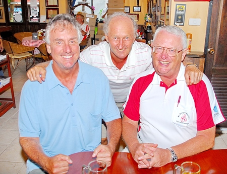 Tuesday's top three: Daryl Evans, Mike Gaussa and Dick Warberg.