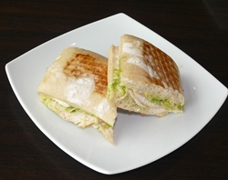 Chicken pesto sandwiches.
