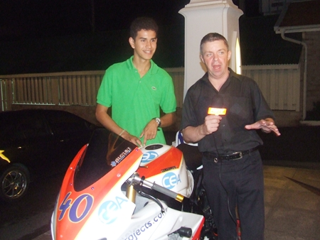 Legendary Ben Fortt with PMTV legend Paul Strachan.