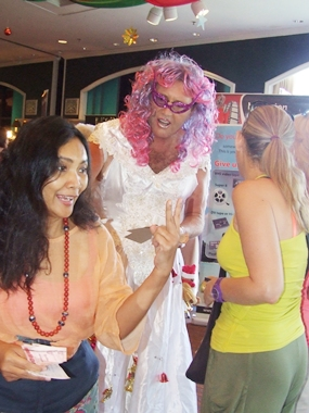 """The Rotary Club """"Fairy"""" manages to sell 14,000 baht worth of tickets."""