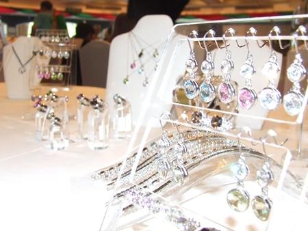 Shiny jewelry to catch the eye,