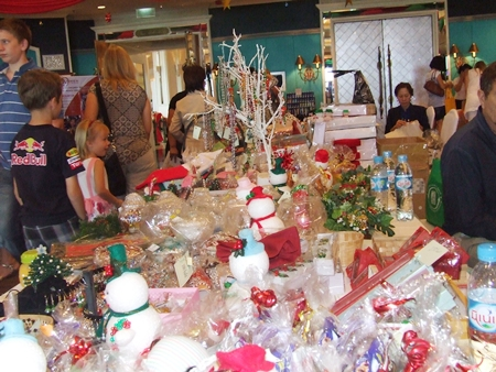 All anyone could ever need for a successful Christmas in the tropics is on sale at the bazaar.