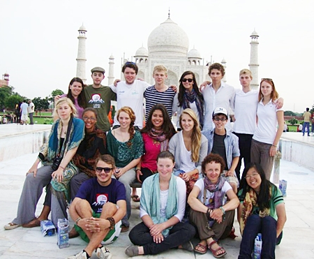 Participants of RSIS Ladakh sightseeing at Taj Mahal.