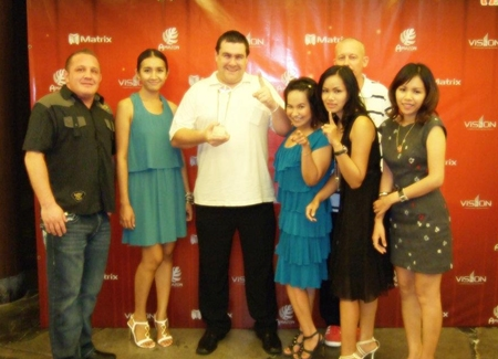 "Alan Bolton Property Consultants are awarded ""Best Agent 2011 Central Pattaya Office"" by Matrix Developments at an awards ceremony held Saturday, October 22."
