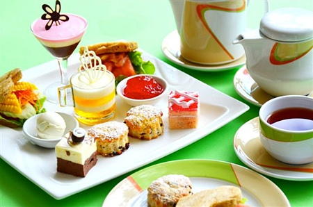 Afternoon tea at the Montien Hotel, Pattaya.