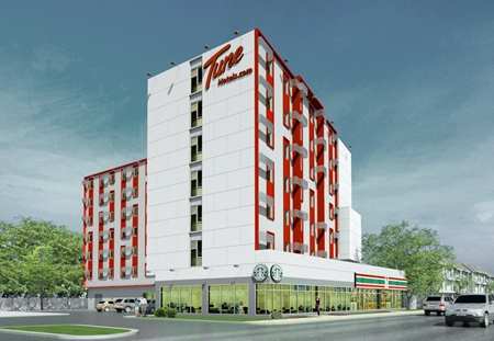 An artist's render shows the completed Pattaya project.