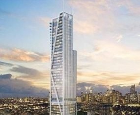 An artist's render shows the proposed Trump Tower Manila, a 250 meter development in Makati City, Philippines.