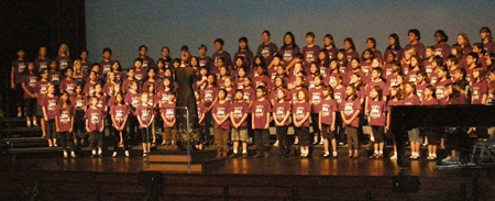St Andrews students sing in the final performance of the choral festival.
