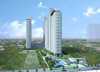 An artist's impression shows the 4 billion baht Lumpini Park Beach Jomtien project.