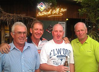 From left: Alan Ansell, Greg Hill, Steve Milne & Paul Greenaway, all podium placers on Friday at Green Valley