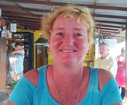 A happy Suzi Lawton after her fantastic 41 points at Khao Kheow.
