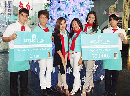 Pattaya's Luxury Condominium project Reflection Jomtien Beach Pattaya will be hosting the Super Luxury Seascape Christmas Party at their development on 10-12 December starting at 9.30 am until 7.30 pm.   The party will feature the world class facilities offered by the Major Development, an opportunity to receive a free furniture package worth up to 2 million Baht, plus fabulous offers at the event.   For further inquiry call 038 233 111, Chiddao 'Bay' Promma at 089 247 7158 or visit www.reflectionpattaya.com.
