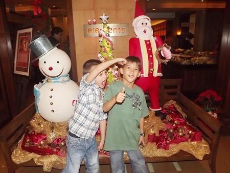Boys will be boys at the Sheraton Pattaya Resort's Christmas celebrations.