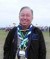 Senator Sutham Phanthusak, International Commissioner of Thai Scouting, enjoying the camp.