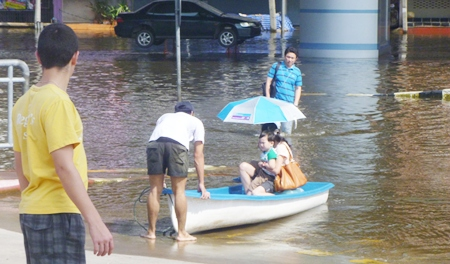 Witnessing the floods first hand.