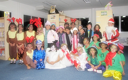 The entire Year Two cast of Melton, the Warm-Hearted Snowman.