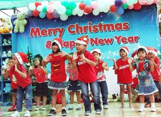 Youngsters at the Fountain of Life Center for Children brighten up the annual FOL Christmas party with a little holiday song and dance. We hope the smiles on their faces brighten up your day this season. At this holiday time of warmth and happiness, the Pattaya Mail Media team wishes everyone a Merry Christmas and a Happy Chanukah. May there be peace on earth and goodwill towards all.
