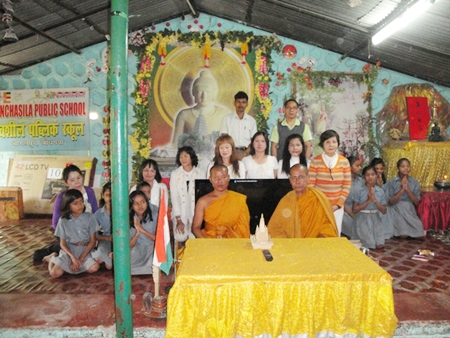 The group donates a large television, care and daily necessities to Punjasil School.