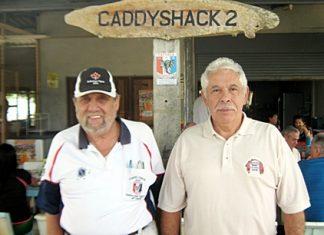 Wednesday winner Joe St. Laurent (left) with runner-up Jim Hern (right).