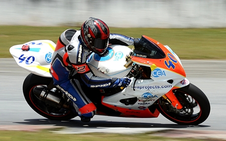Fortt is seen in action at Bira Circuit earlier in the season.