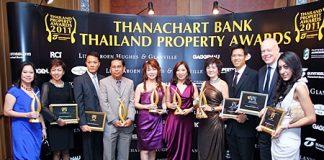 CB Richard Ellis (Thailand) won five awards at the Thanachart Bank Thailand Property Awards 2011 gala dinner ceremony, held at the Grand Hyatt Erawan Hotel in Bangkok last month.