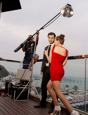 Capital TV's Raine Grady takes us to a special movie shoot down on the Waterfront.