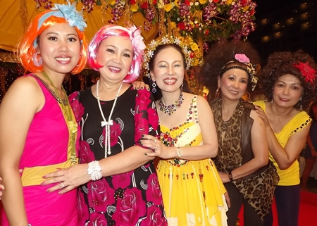 Lovely ladies dress to the nines at Montien Hotel Pattaya.