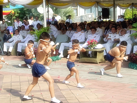 Young Thai boxers give a rousing performance.