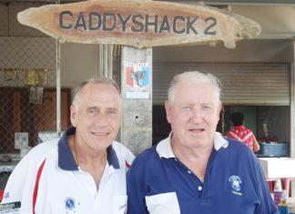 Winner Dale Murphy (left) with runner-up Paul Kraft (right).