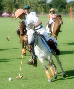 The polo stars of tomorrow show off their skills.