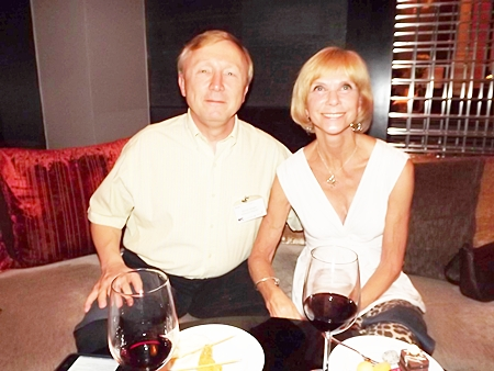Bruce Hoppe, vice president of marketing & quality for Emerson Electric (Thailand) Ltd. and his lovely wife Judy Hoppe.