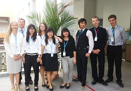 Regent's Pattaya staff and student delegates (Y12 and Y13).