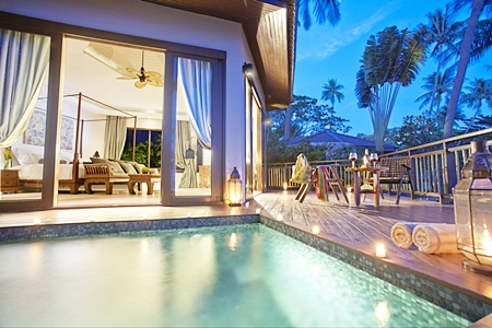 A pool suite at the Akaryn Samui Resort.