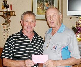 Bob Stokes (left) with Colin Davis.