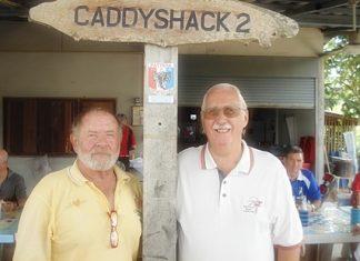 Winner Rich Murphy (left) with runner-up Paul Kinmond.